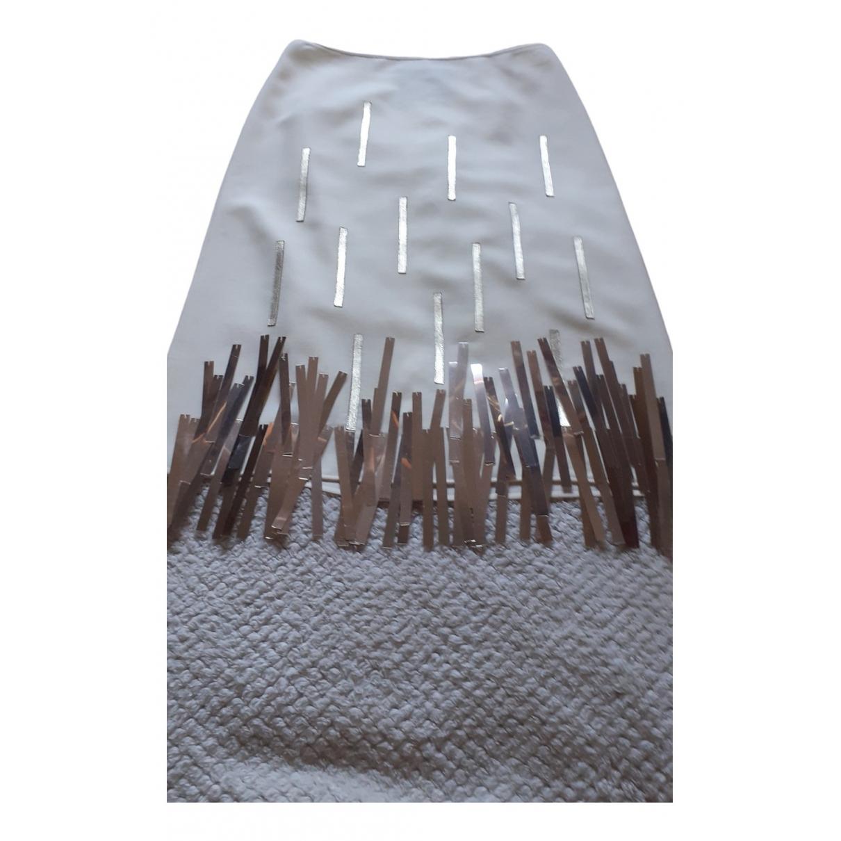 Lanvin - Jupe   pour femme en laine - ecru