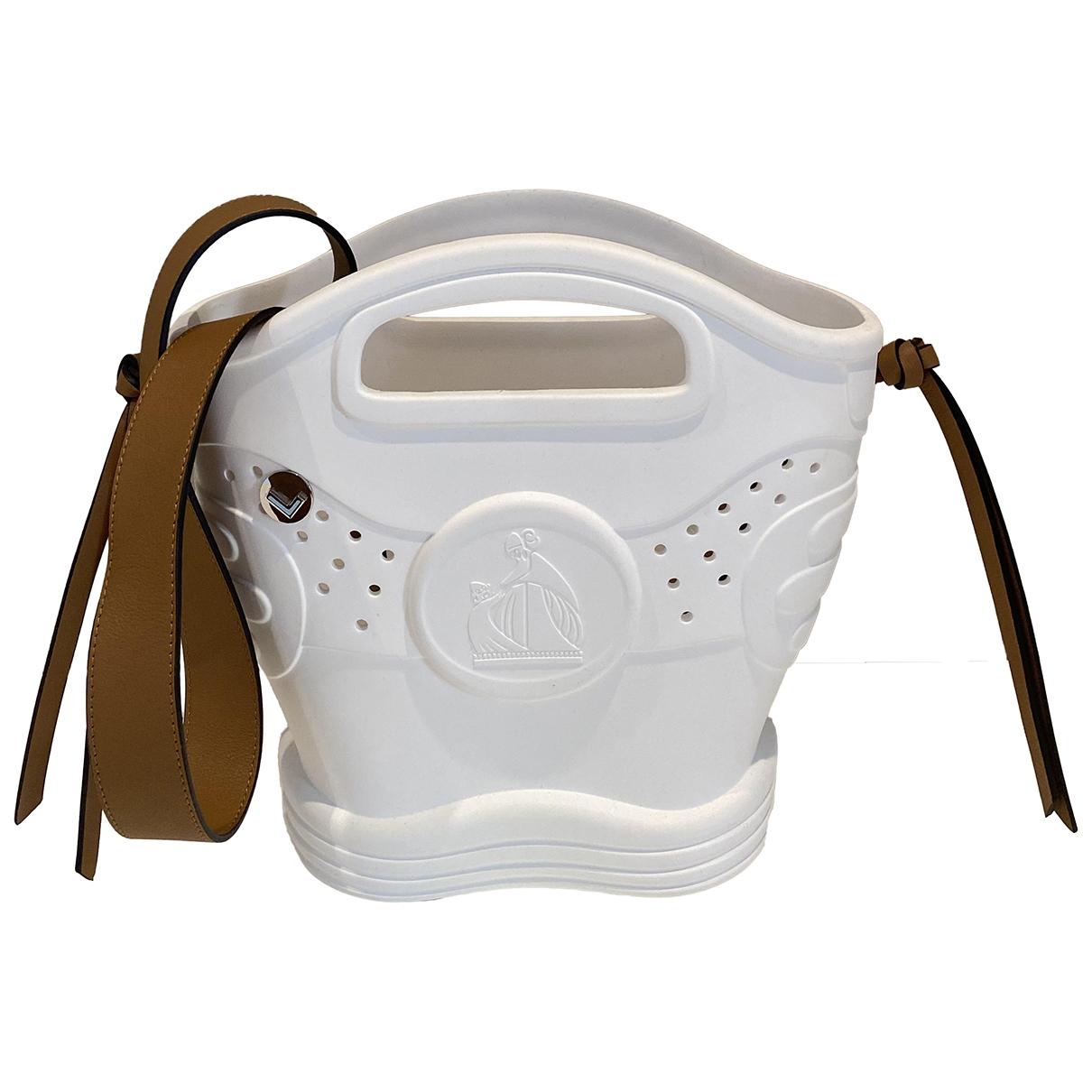 Lanvin \N Handtasche in  Weiss Kunststoff