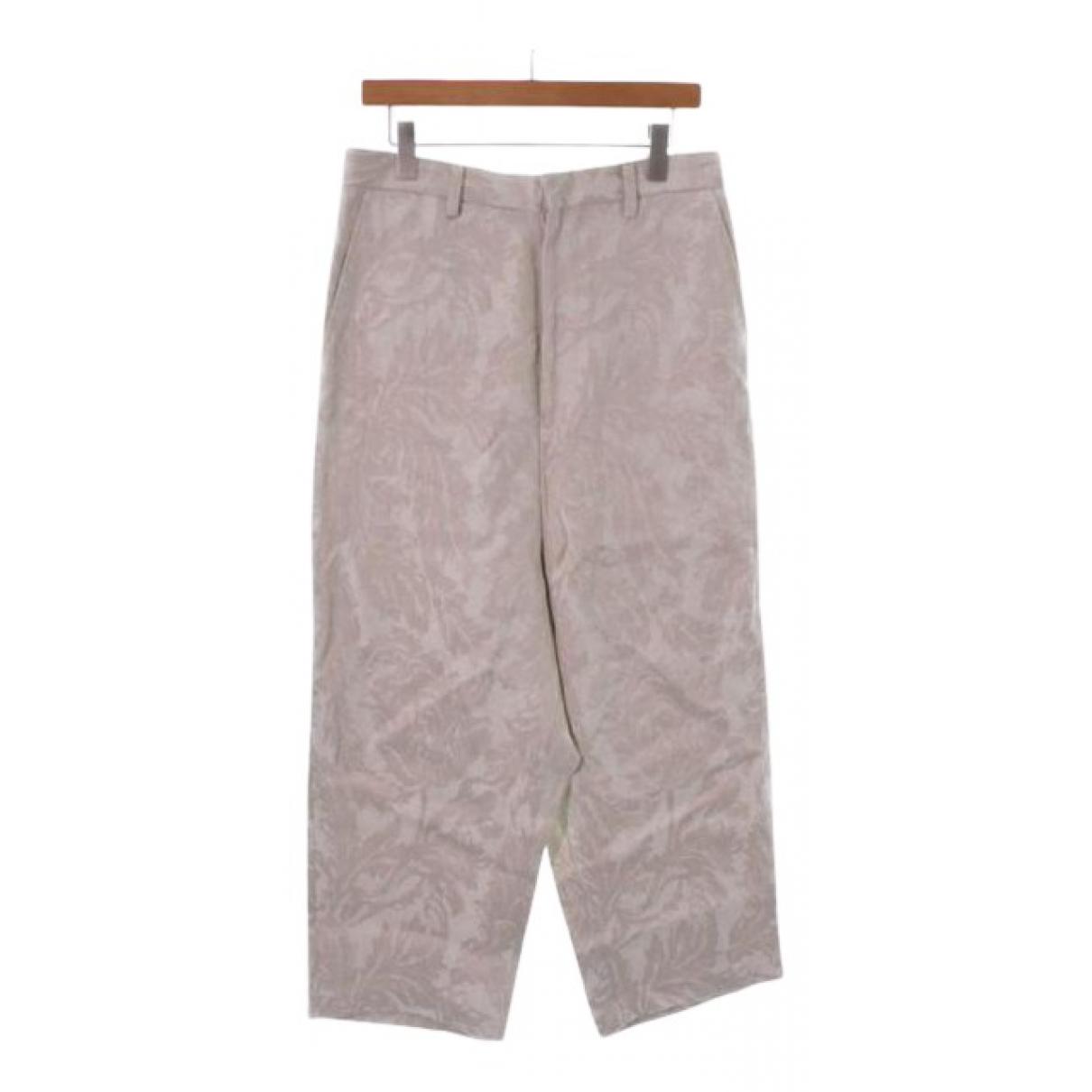 Comme Des Garcons N Beige Cotton Trousers for Women M International