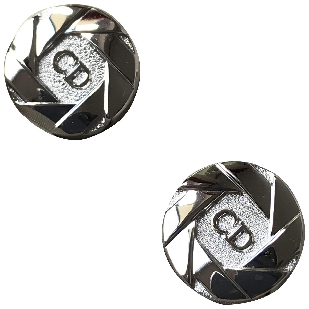 Dior \N Silver Metal Cufflinks for Men \N