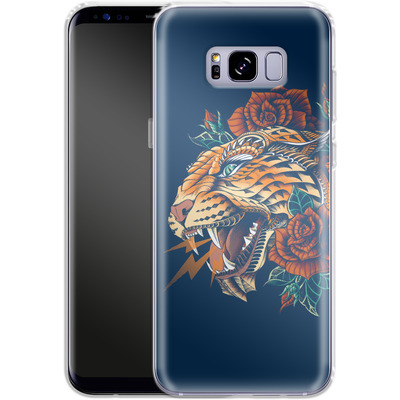 Samsung Galaxy S8 Plus Silikon Handyhuelle - Ornate Leopard von BIOWORKZ