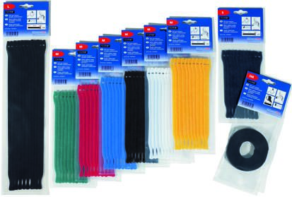 HellermannTyton , Textie Series Black PA (Loop), PP (Hook) Hook and Loop Cable Tie, 5m x 12.5 mm