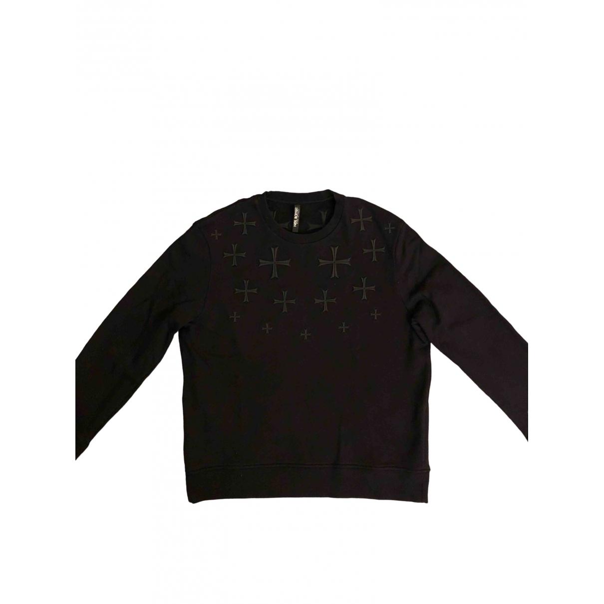 Neil Barrett \N Pullover.Westen.Sweatshirts  in  Schwarz Baumwolle