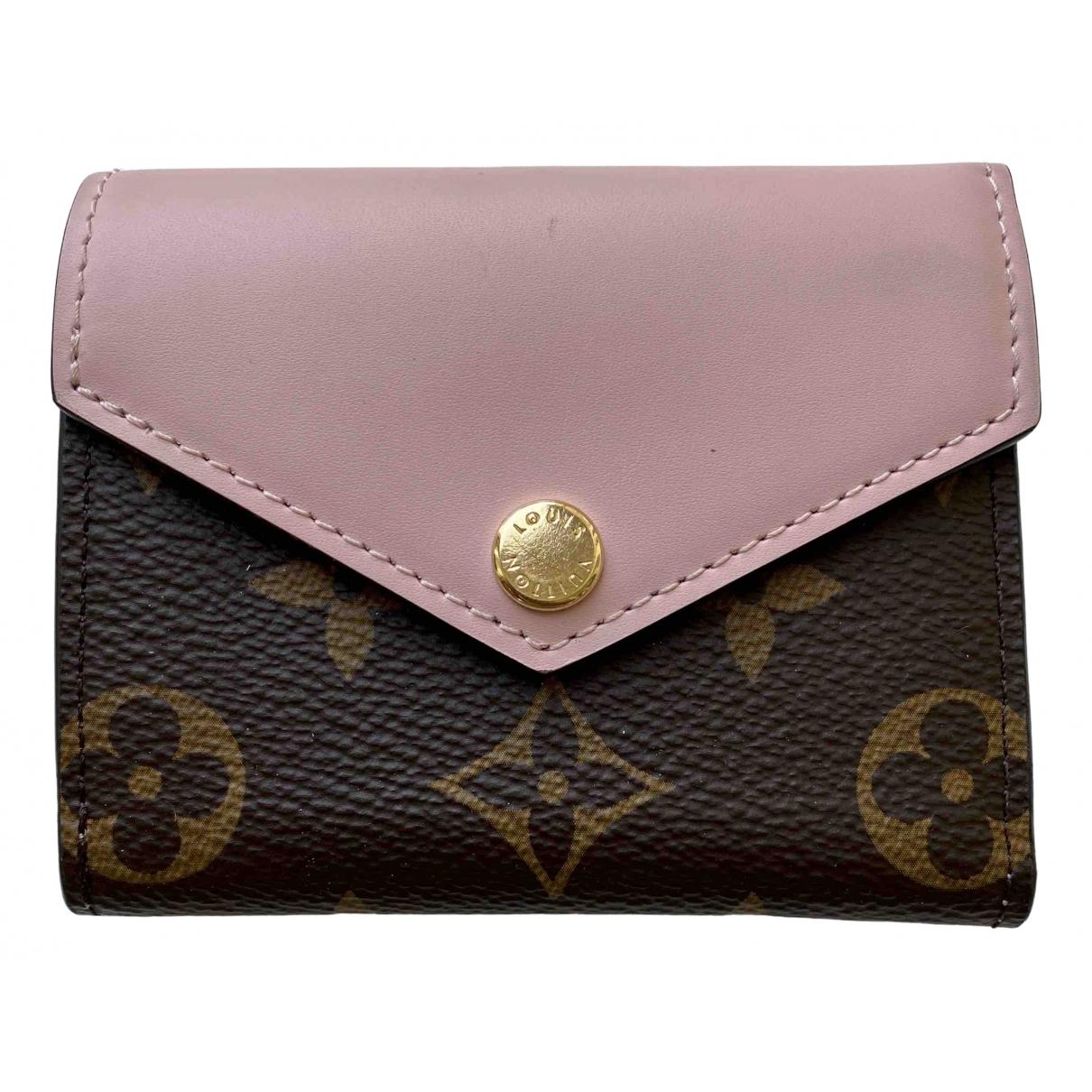 Louis Vuitton Victorine Portemonnaie in  Rosa Leinen