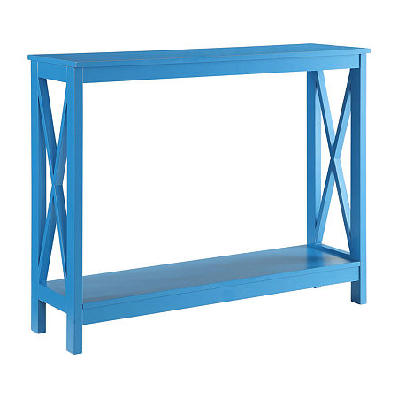 Convenience Concepts Oxford Living Room Collection Console Table, One Size , Blue