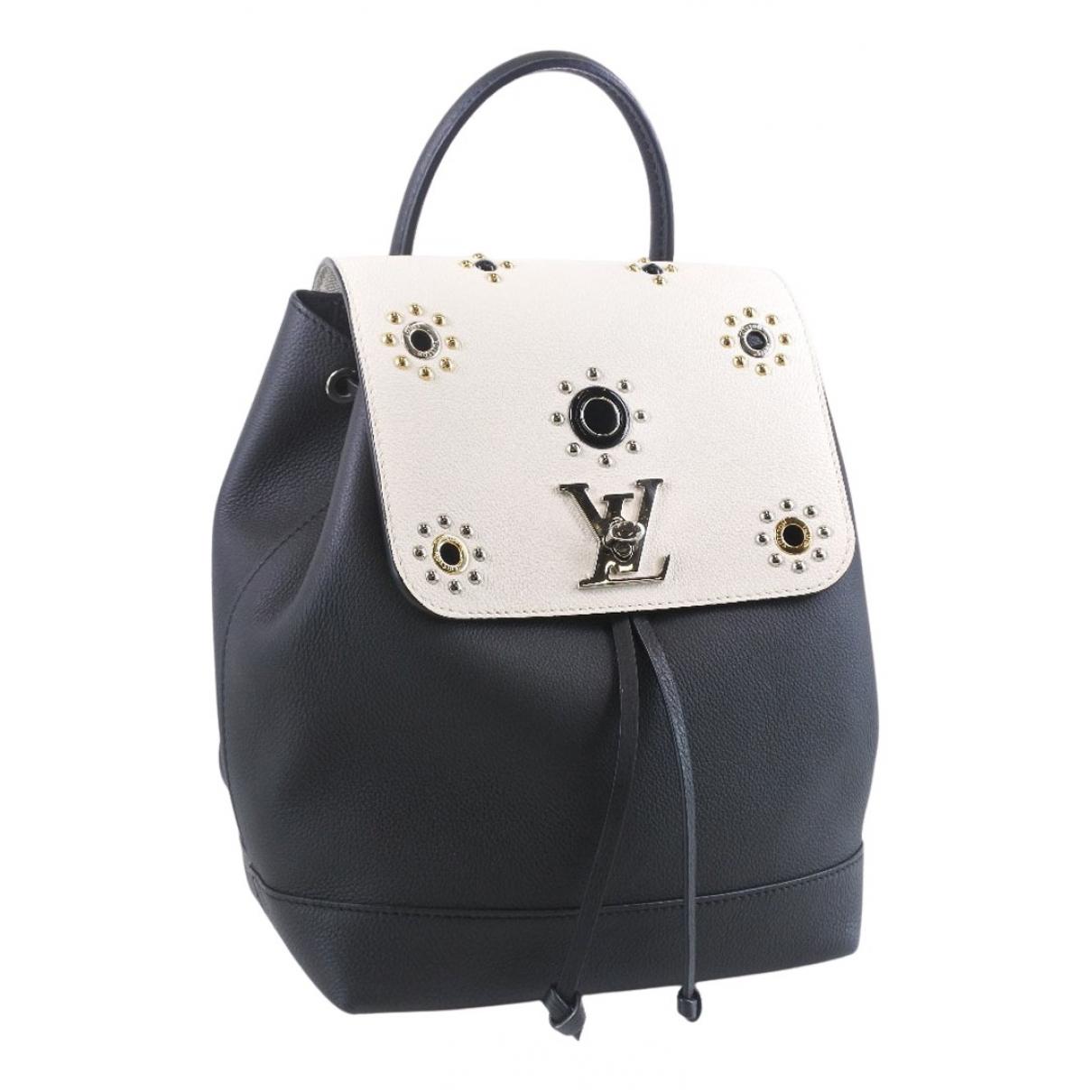 Louis Vuitton - Sac a dos Lockme pour femme en cuir - noir