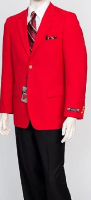 Pacelli Mens Classic Red Blazer Jacket Blair