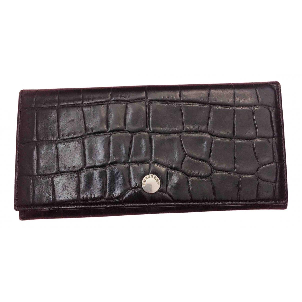 Burberry - Petite maroquinerie   pour femme en cuir - noir