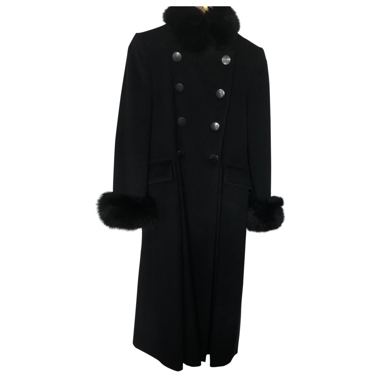Non Signé / Unsigned \N Black coat for Women 38 FR