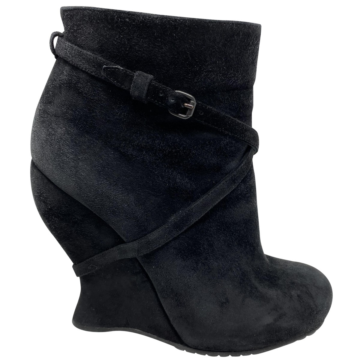 Bottega Veneta - Boots   pour femme en suede - noir