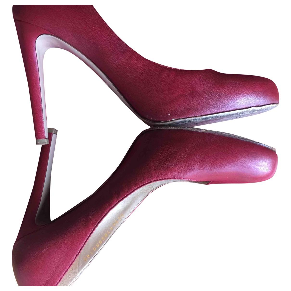 Valentino Garavani \N Red Leather Heels for Women 40 EU