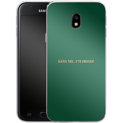 Samsung Galaxy J3 (2017) Silikon Handyhuelle - Kiss Me Im Irish von caseable Designs