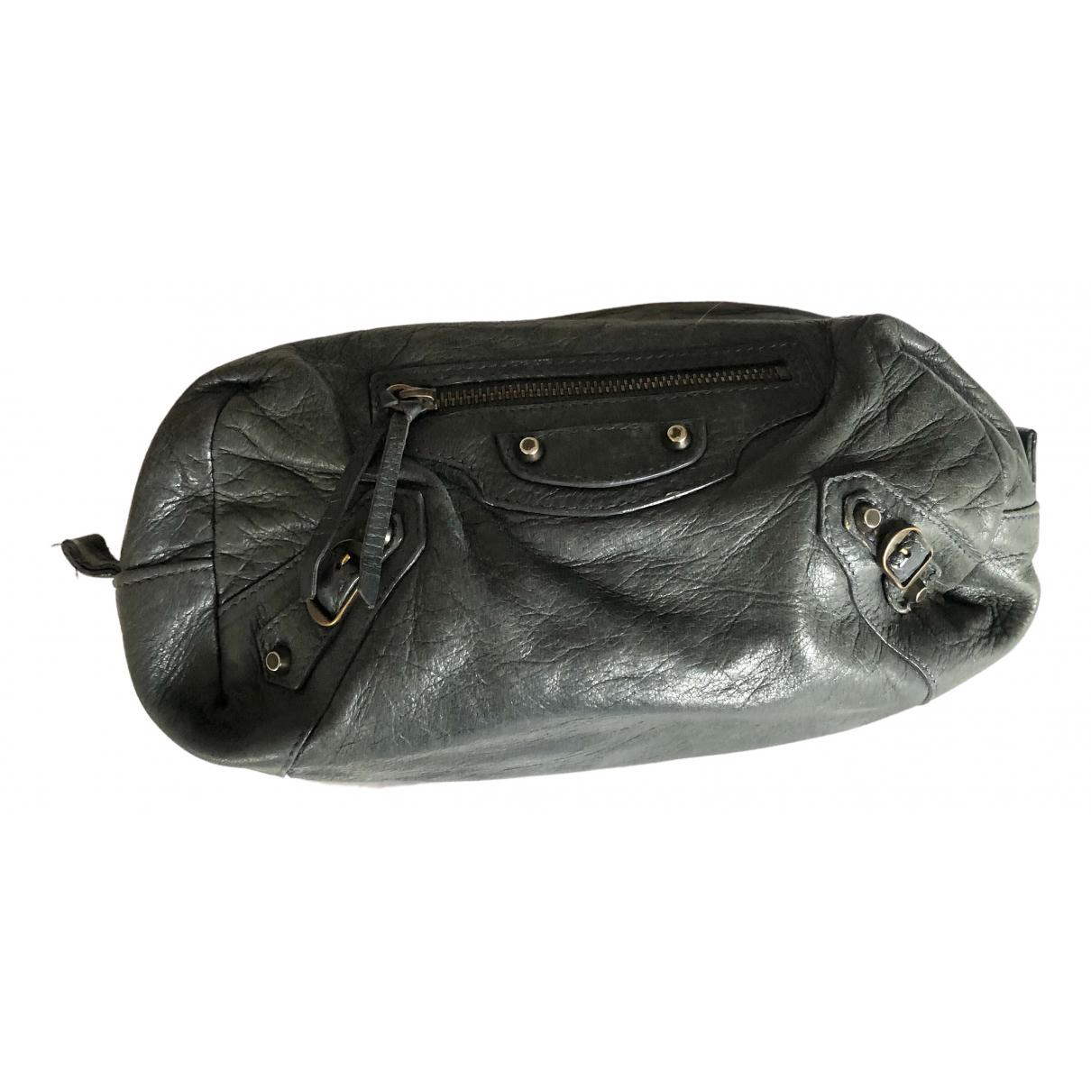 Balenciaga - Sac de voyage   pour femme en cuir - gris