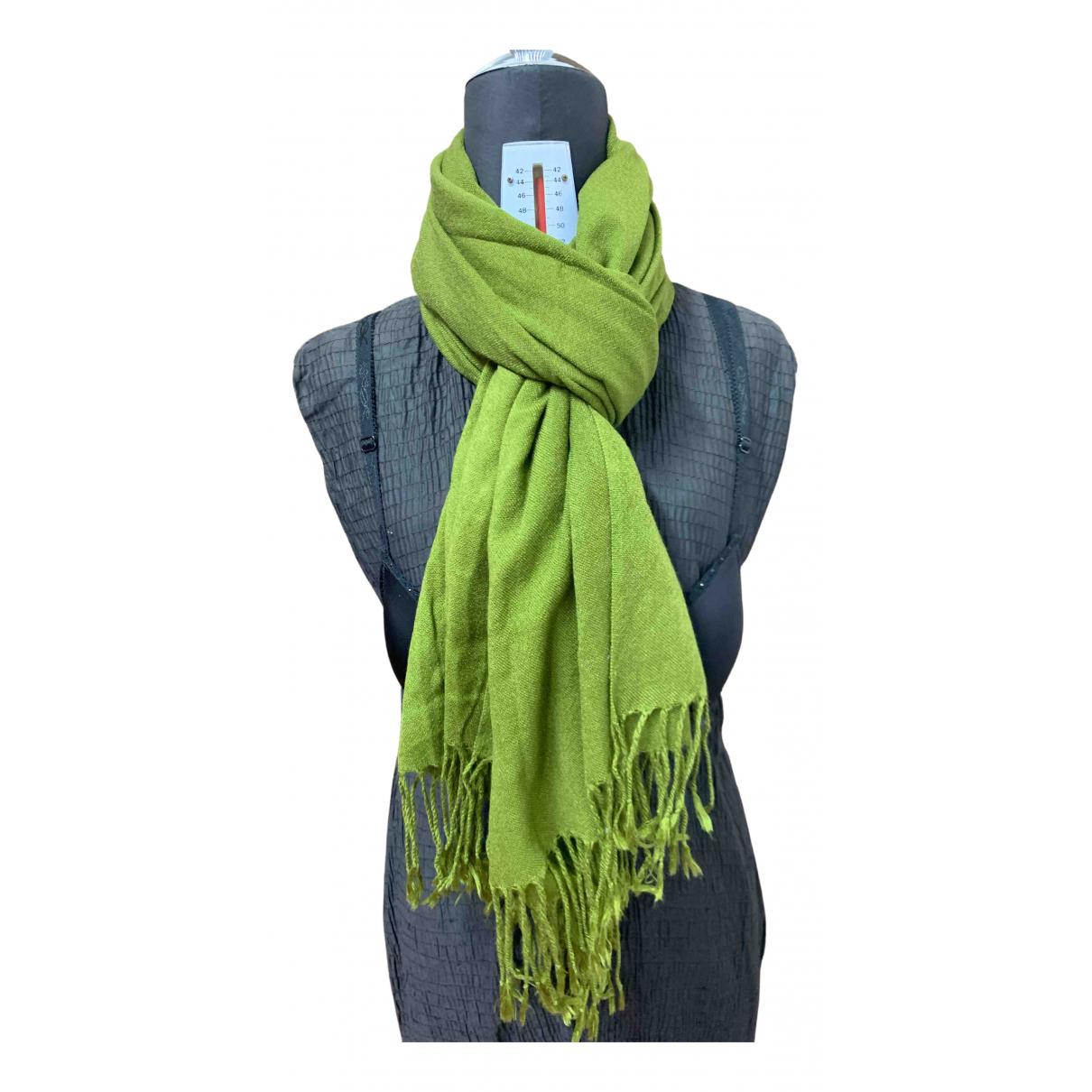 Benetton - Foulard   pour femme en laine - vert