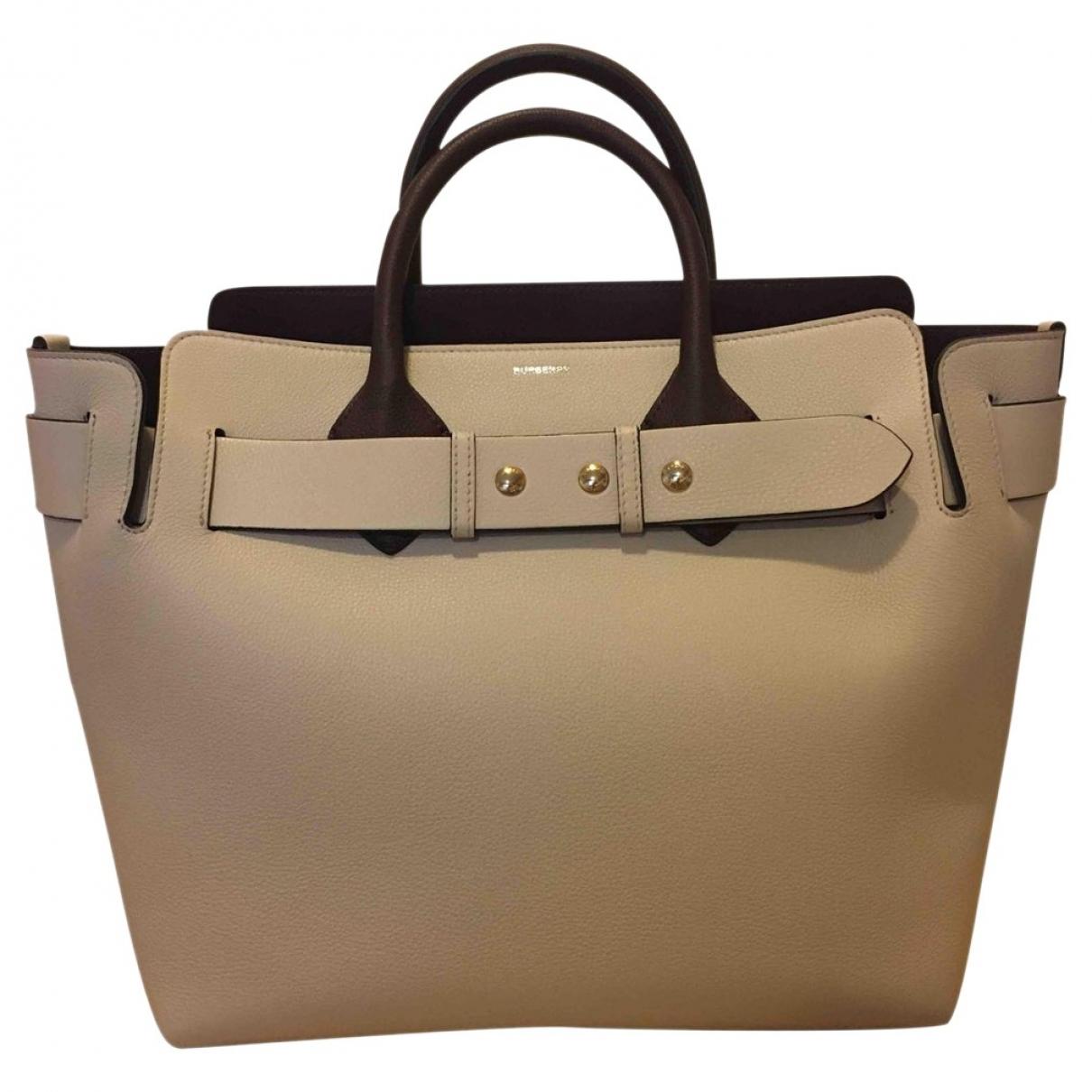 Burberry The Belt Handtasche in  Beige Leder