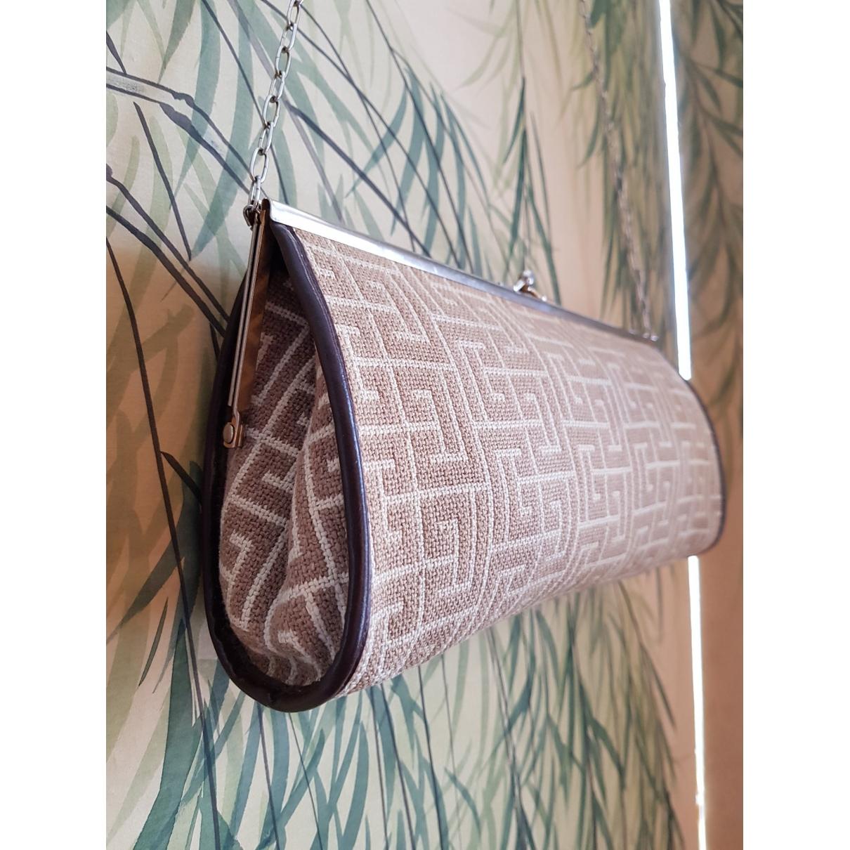 Pierre Balmain \N Beige Cloth Clutch bag for Women \N