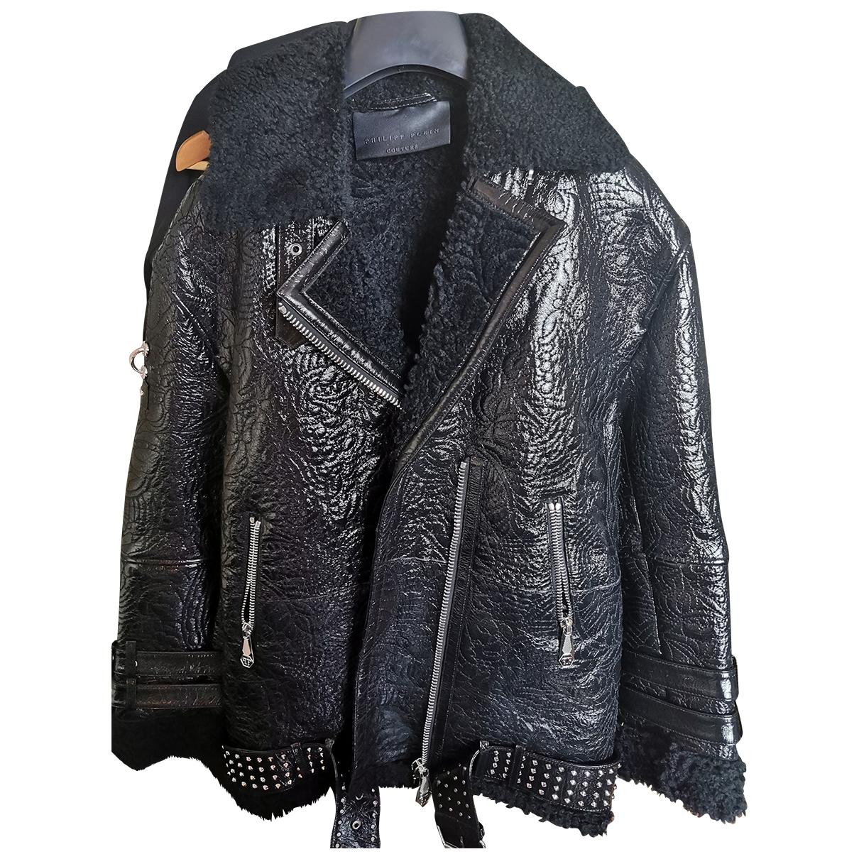 Philipp Plein \N Black Shearling coat  for Men L International