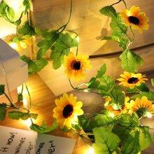 20pcs Sunflower Shaped Bulb String Light