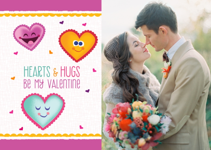 Just Because 5x7 Folded Cards, Standard Cardstock 85lb, Card & Stationery -Be My Valentine