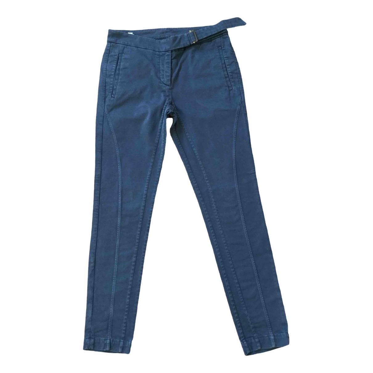 Brunello Cucinelli \N Blue Cotton Trousers for Women 40 IT