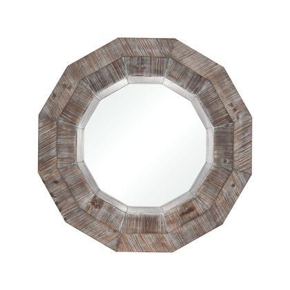 3116-035 Loggerhead Mirror  In Salvaged Grey Oak And German
