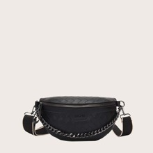 Braided Fanny Pack With Chain Handle