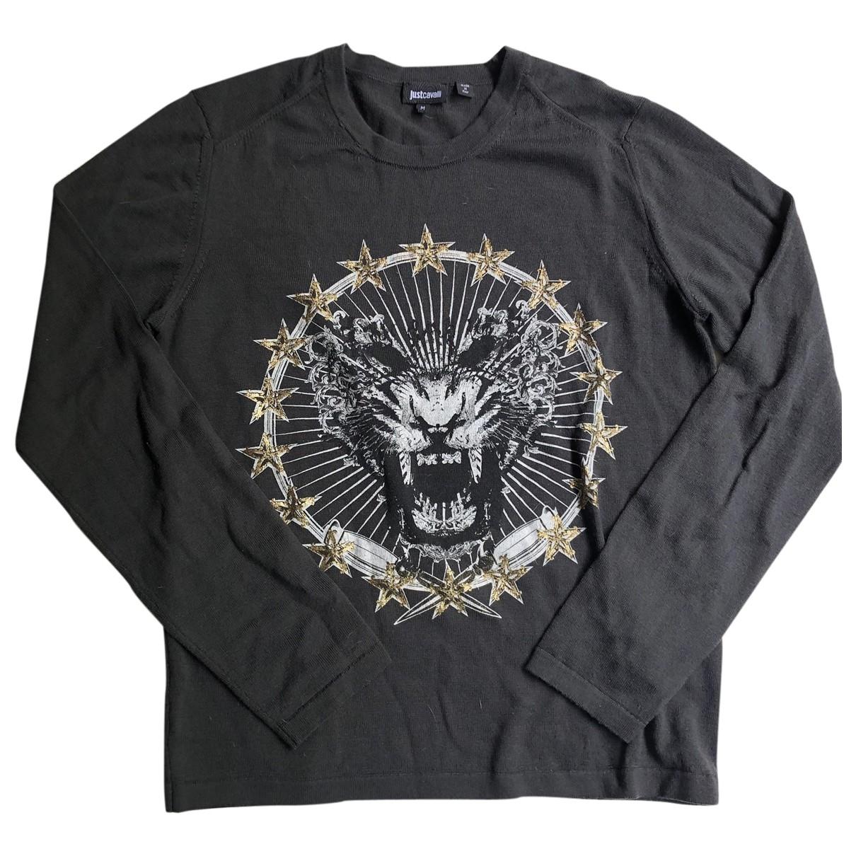 Just Cavalli \N Pullover.Westen.Sweatshirts  in  Khaki Wolle