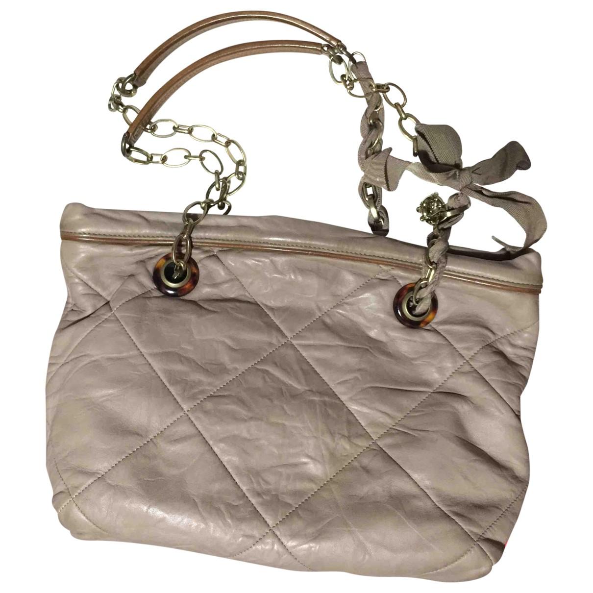 Lanvin Amalia Beige Leather handbag for Women \N