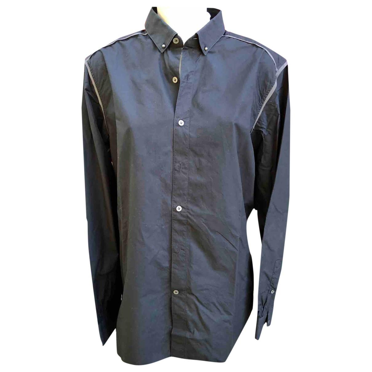 Lanvin - Chemises   pour homme en coton - noir