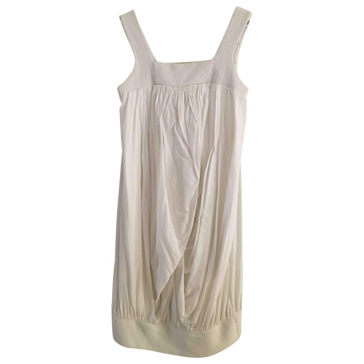 Non Signe / Unsigned \N Kleid in  Weiss Baumwolle