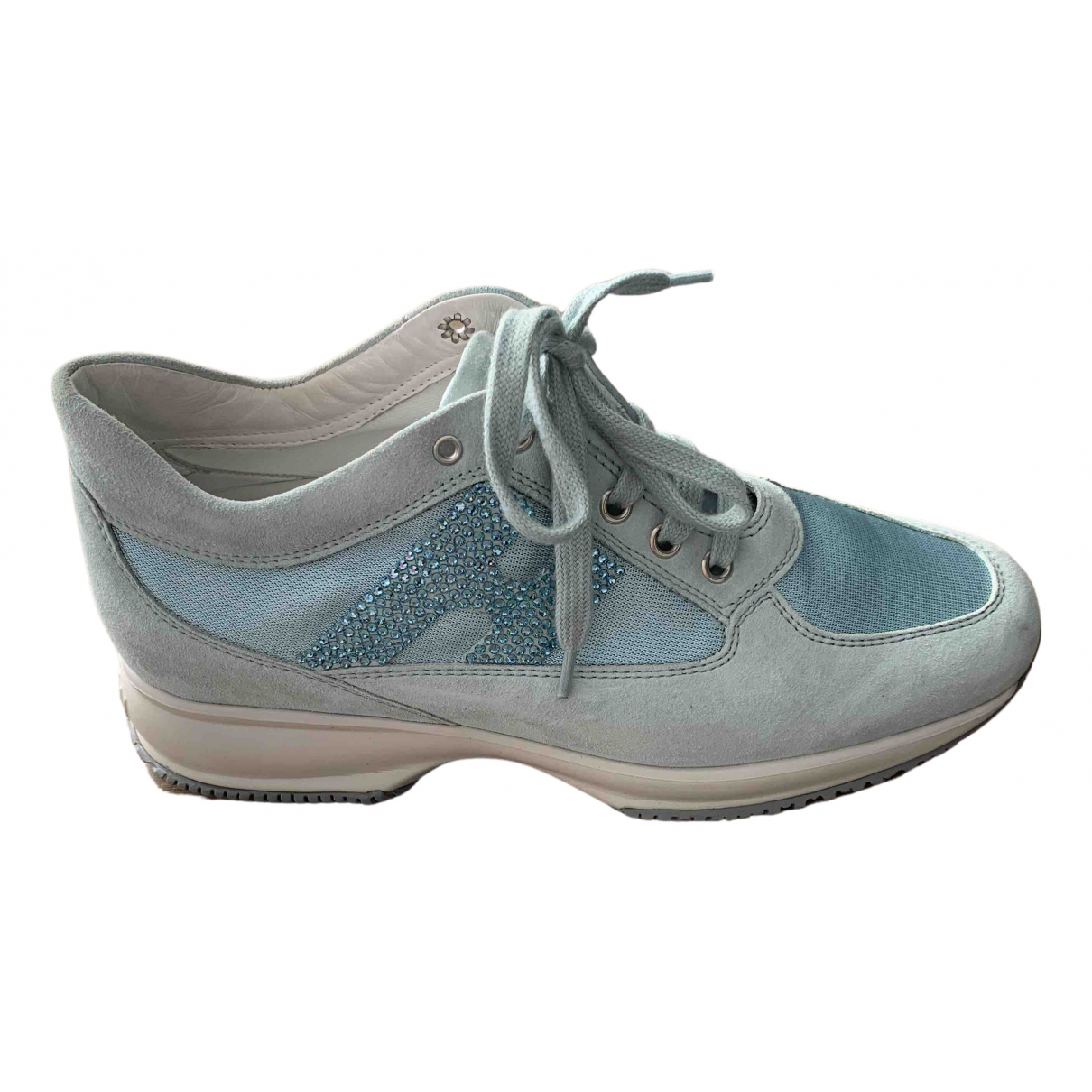 Hogan N Turquoise Suede Lace ups for Women 40 IT