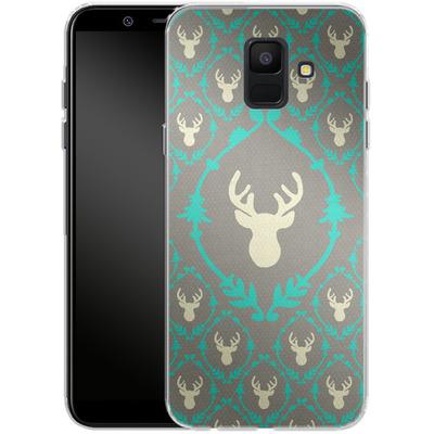 Samsung Galaxy A6 Silikon Handyhuelle - Oh Deer von Bianca Green