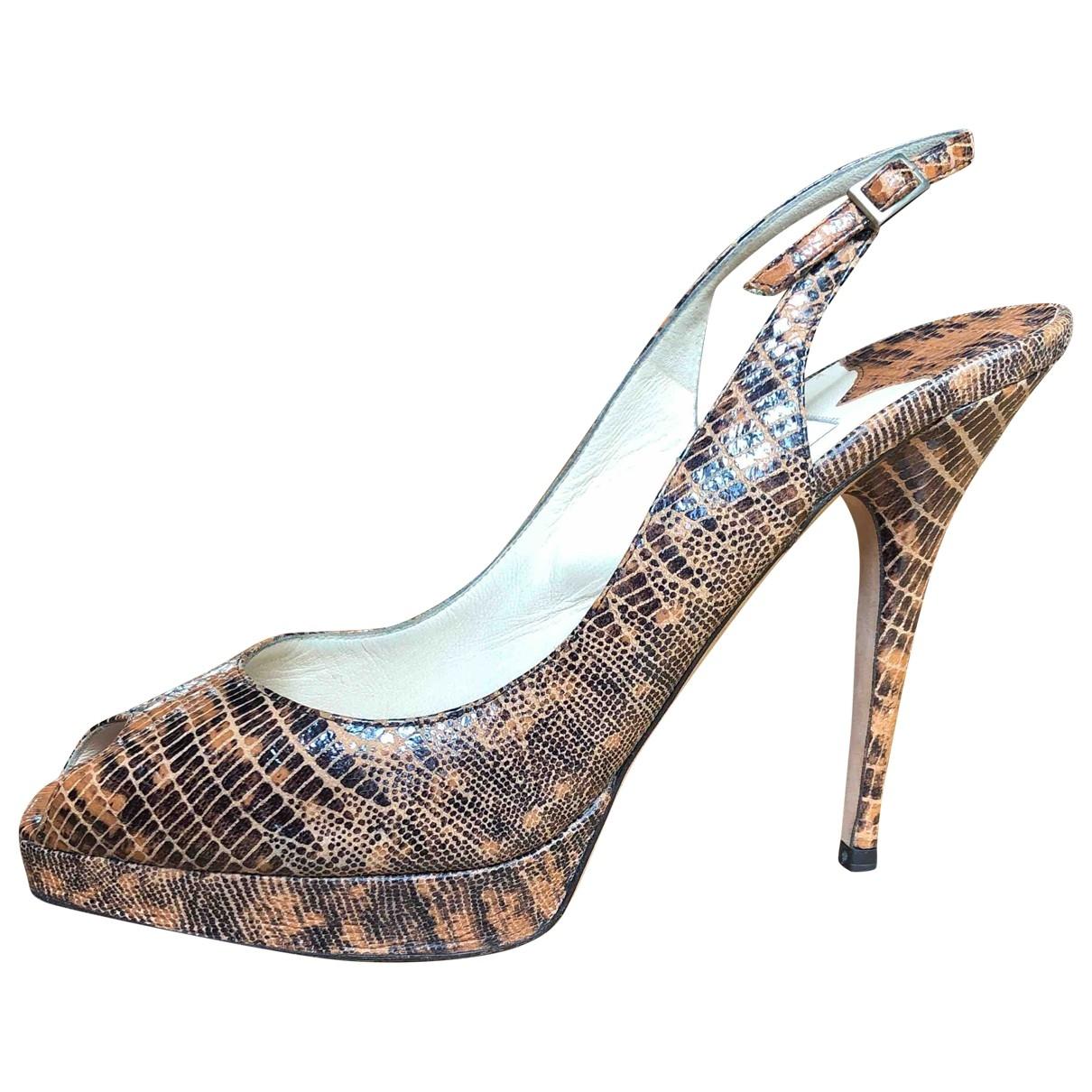 Jimmy Choo \N Beige Leather Heels for Women 41 IT