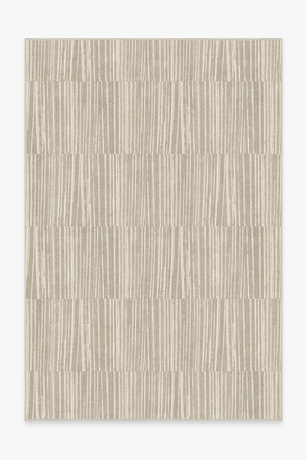 Washable Rug Cover & Pad | Caspian Stripe Natural Rug | Stain-Resistant | Ruggable | 6x9