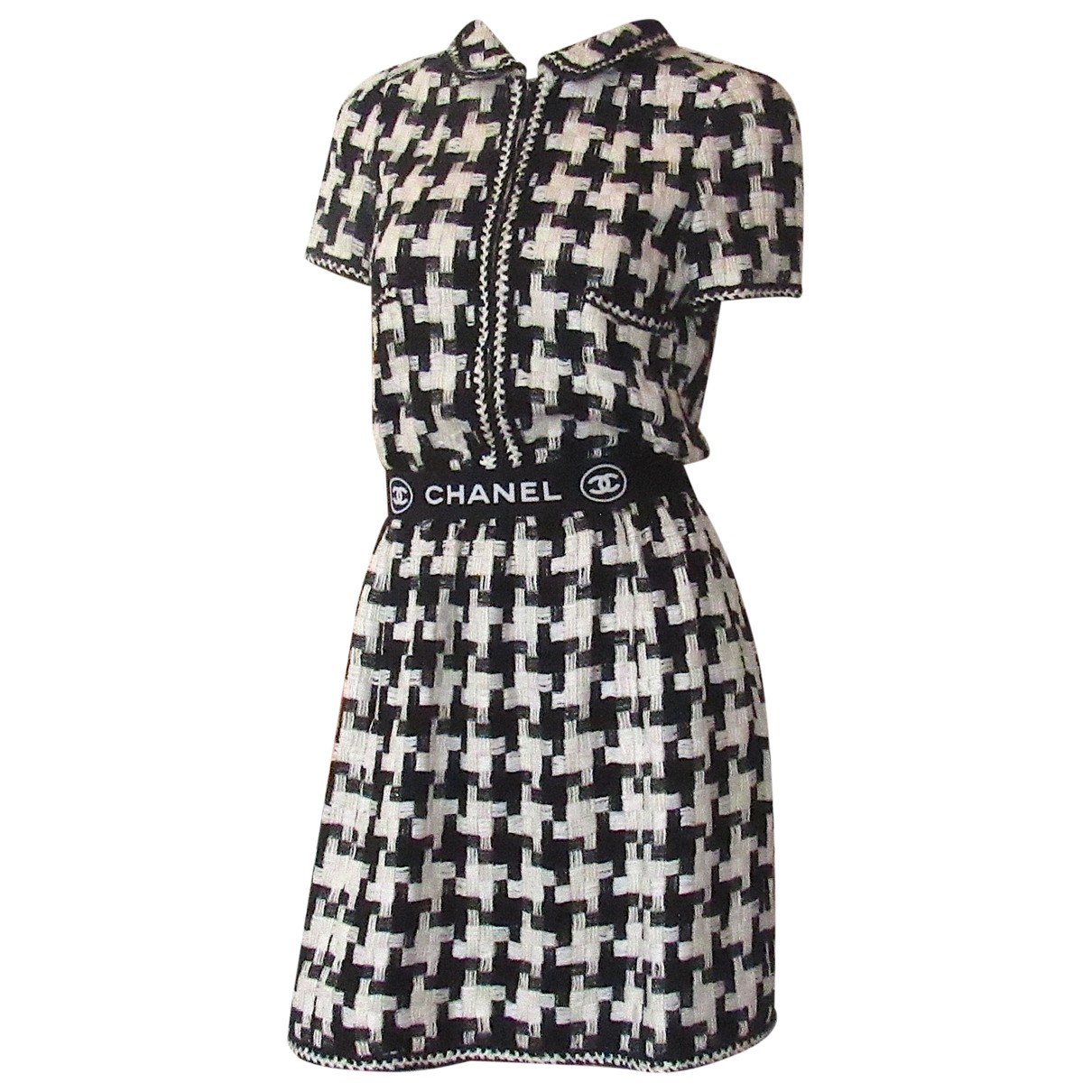 Chanel \N Kleid in  Schwarz Seide