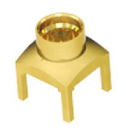 Samtec Straight 50? PCB Mount Coaxial Connector, Plug, Gold Flash, Through Hole Termination, Microwave