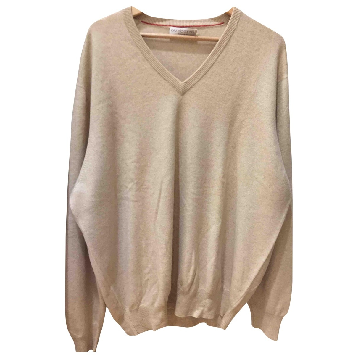 Brunello Cucinelli \N Pullover.Westen.Sweatshirts  in  Beige Kaschmir