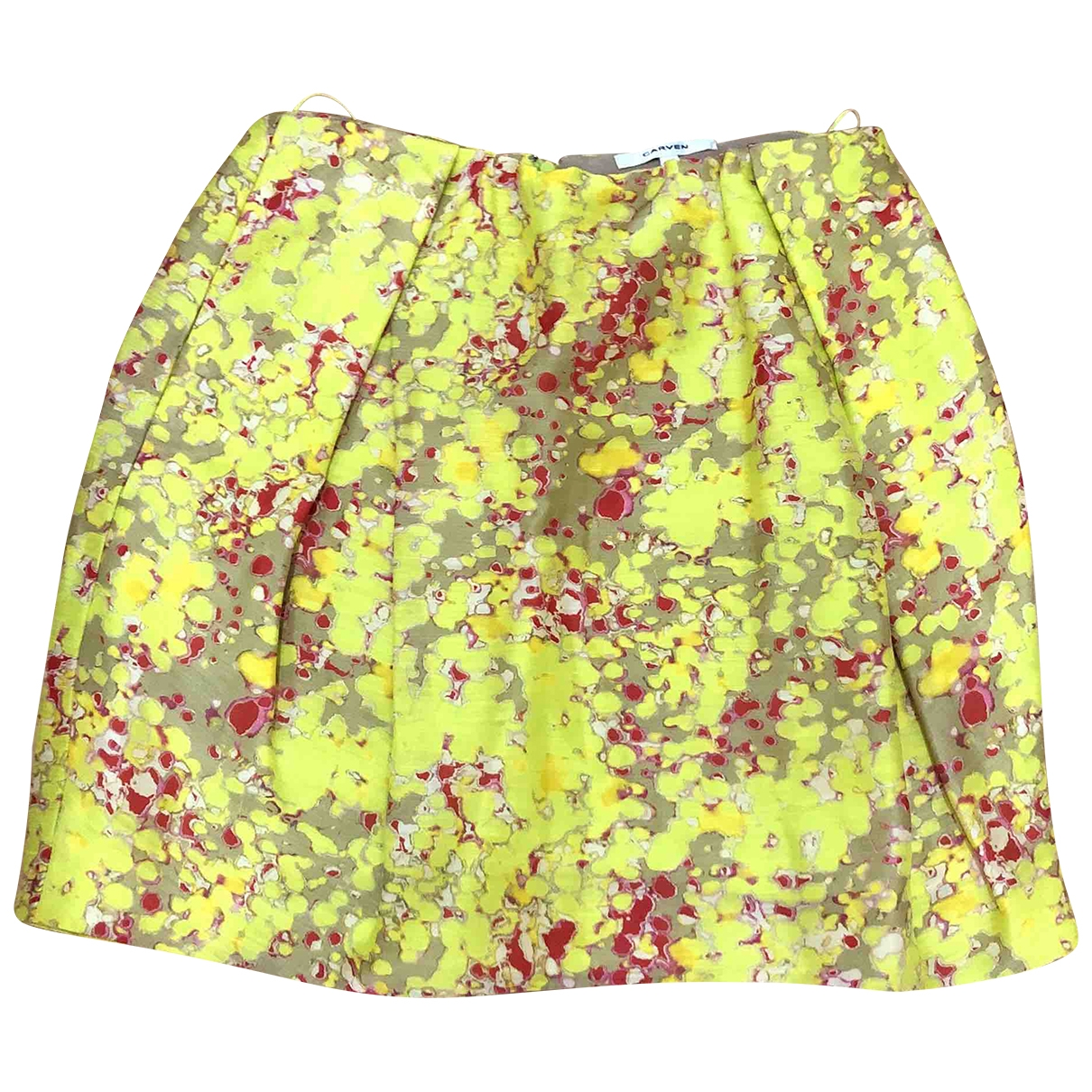 Carven \N Yellow Linen skirt for Women 38 FR