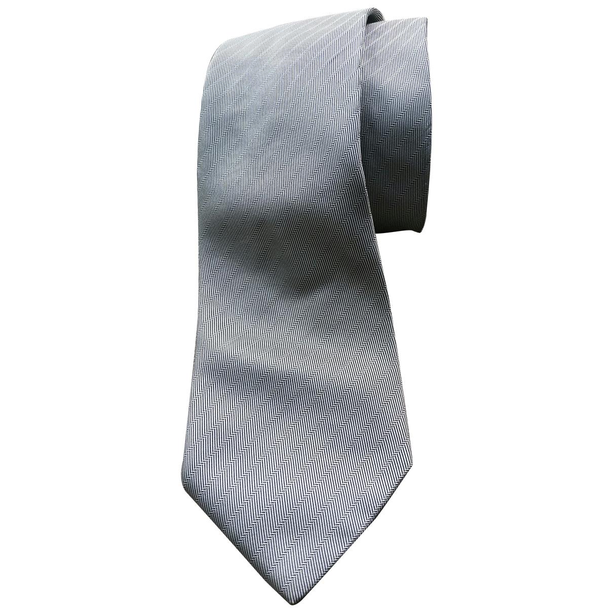 Balenciaga \N Krawatten in  Grau Seide