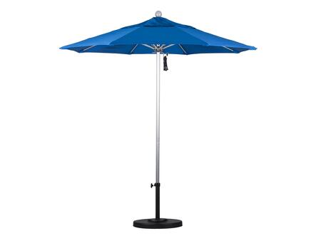 ALTO758002-F03 7.5' Venture Series Commercial Patio Umbrella With Silver Anodized Aluminum Pole Fiberglass Ribs Push Lift With Olefin Royal Blue