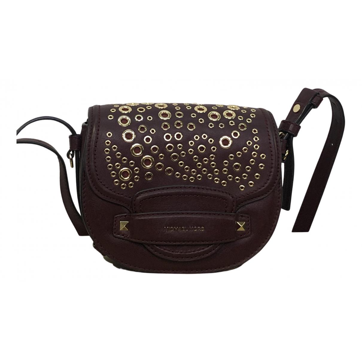 Michael Kors N Burgundy Leather handbag for Women N