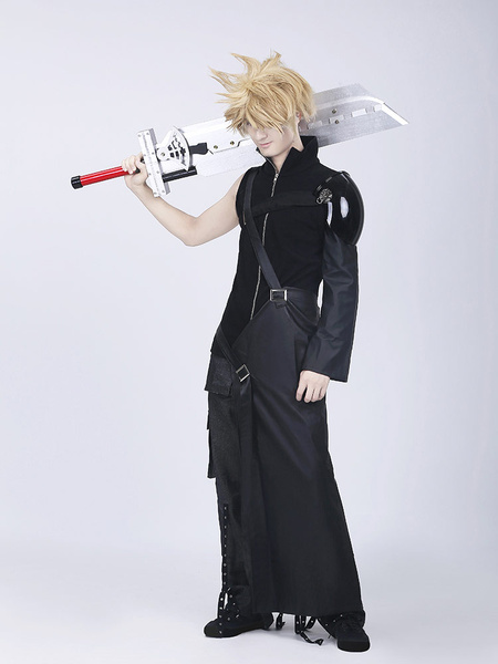 Milanoo Final Fantasy VII Cloud Halloween Cosplay Costume Halloween