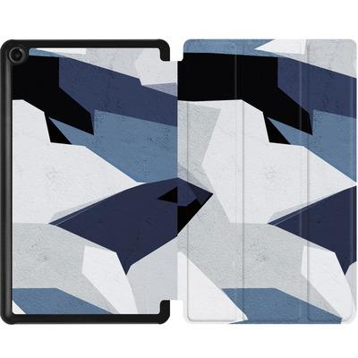 Amazon Fire 7 (2017) Tablet Smart Case - Geometric Camo Blue von caseable Designs