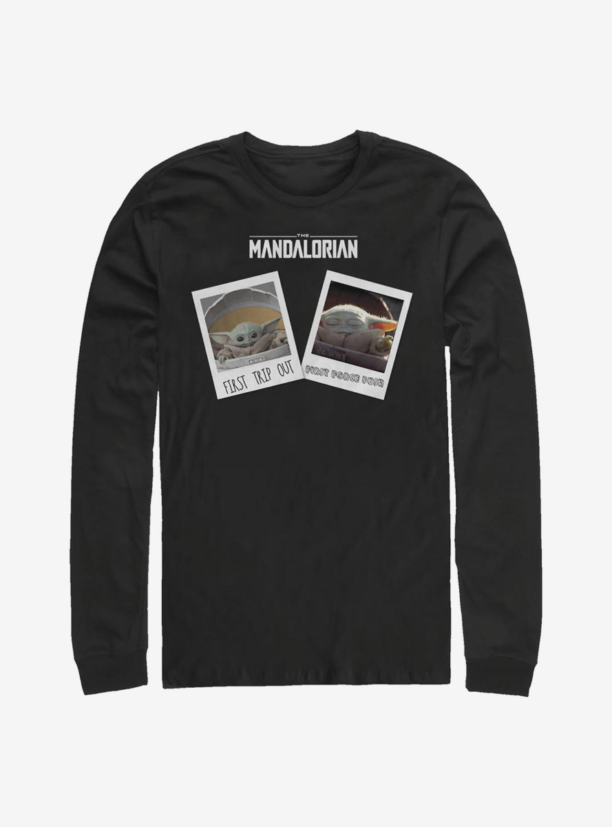 Star Wars The Mandalorian The Child Travel Pics Long-Sleeve T-Shirt