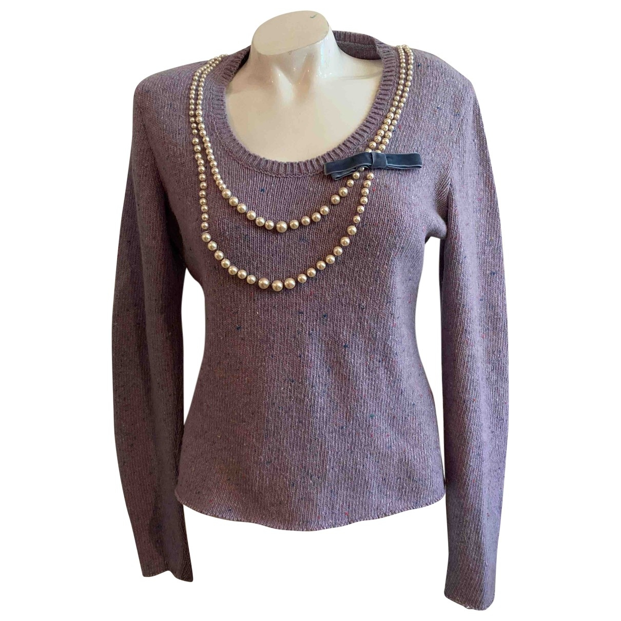 Moschino Cheap And Chic - Pull   pour femme en laine - multicolore