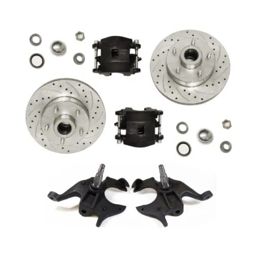 Racing Power Company R1701-2KIT Drilled & Slotted Front Brake Rotors Kit 5 x 4.75