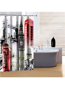 Fashion Modern Classic Big Ben Print 3D Shower Curtain
