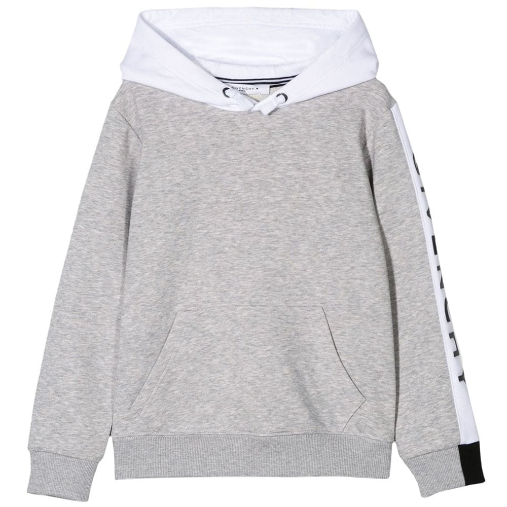Givenchy Kids Arm Logo Hoodie Colour: GREY, Size: 4 YEARS