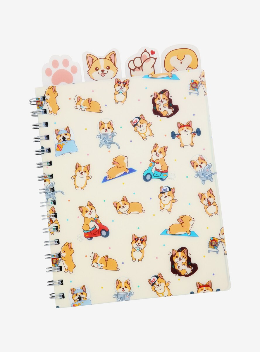 Corgi Lifestyle Journal with Tabs - BoxLunch Exclusive