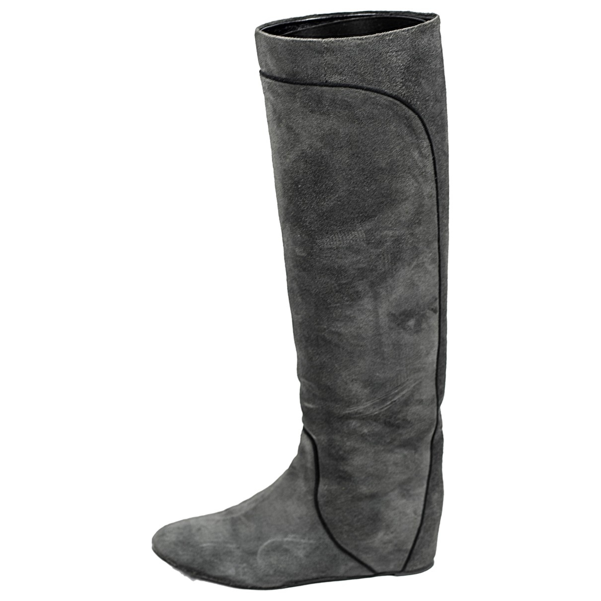 Lanvin \N Grey Suede Boots for Women 38 EU